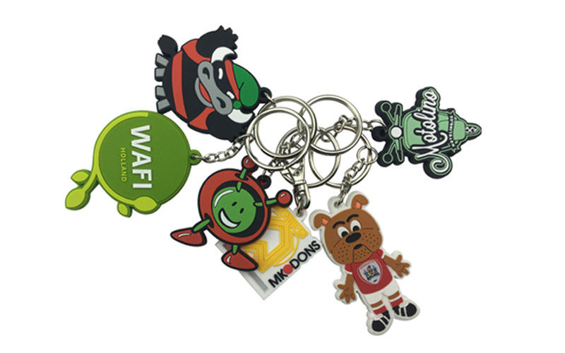 Animal Cartoon PVC Rubber Keychain Soft Touch Feeling Bag Accessories
